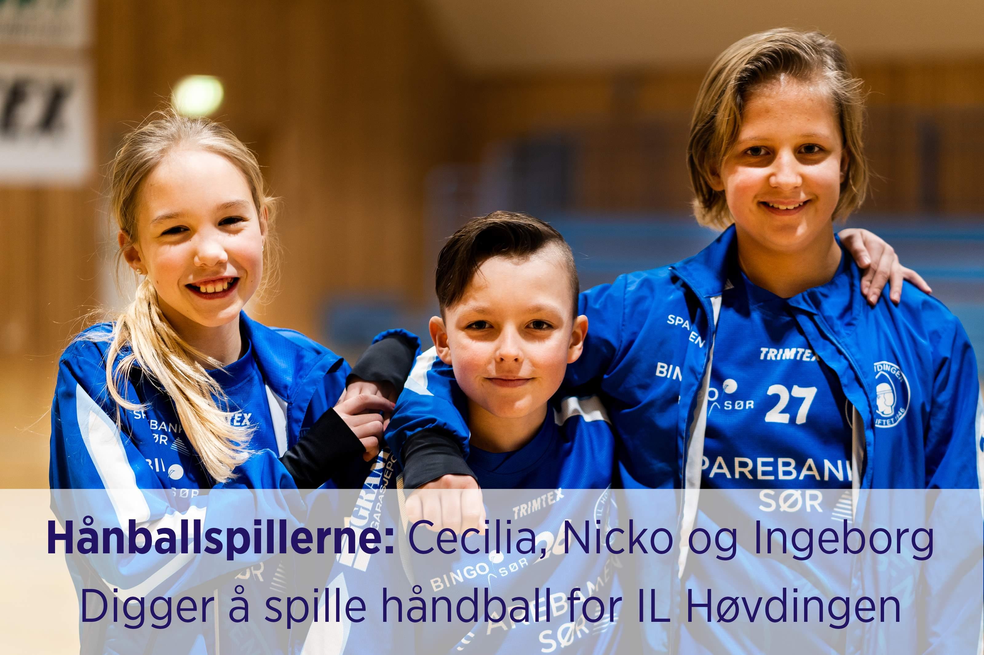 0d398df6 Foto | håndballspillere Cecilia, Nicko og Ingeborg fra Lillesand