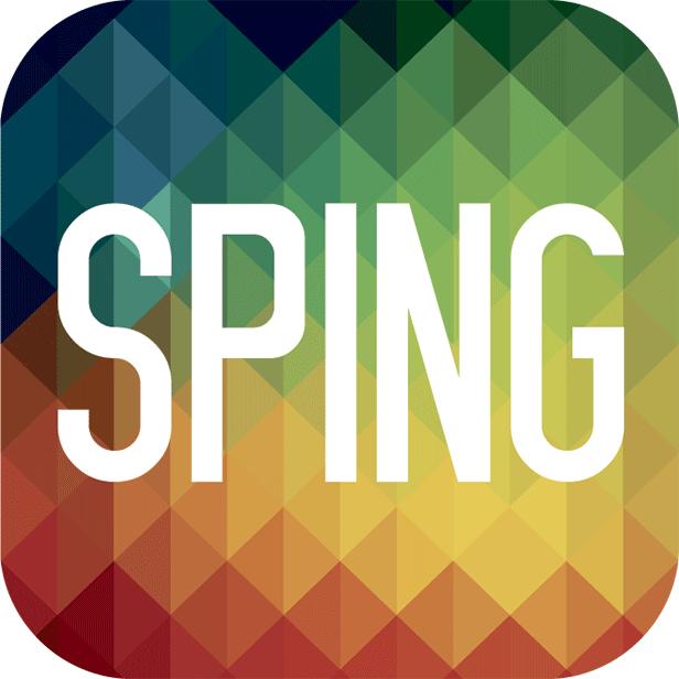 Slik ser app-symbolet til SPING ut